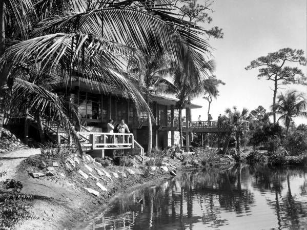 Visitors enjoying the Caribbean Gardens zoological park in 1960. The Naples Zoo is celebrating its 50th year as a zoo and 100th year as a botanical garden.