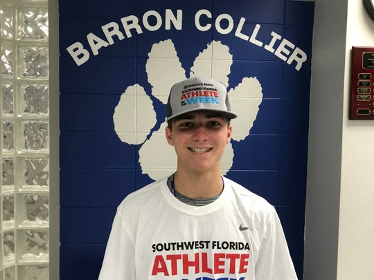 Barron Collier senior lacrosse player  Will Asher was selected Naples Daily News Athlete of the Week Sponsored by Babcock Ranch for the week of April 28-May 4.