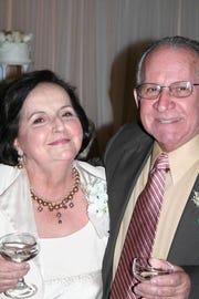 Blanca and Vicente Cardona at their 50th wedding anniversary celebration.