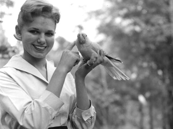Model Vikke Sansone holds one of the many rare birds at Caribbean Gardens in this undated photo from the 1950s. The Naples Zoo is celebrating its 50th year as a zoo and 100th year as a botanical garden.