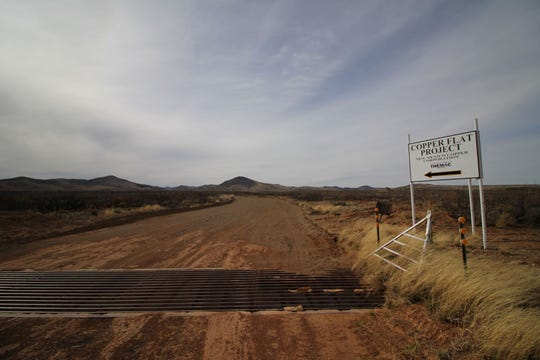 The entrance to Copper Flat Mine near Hillsboro in southern New Mexico.