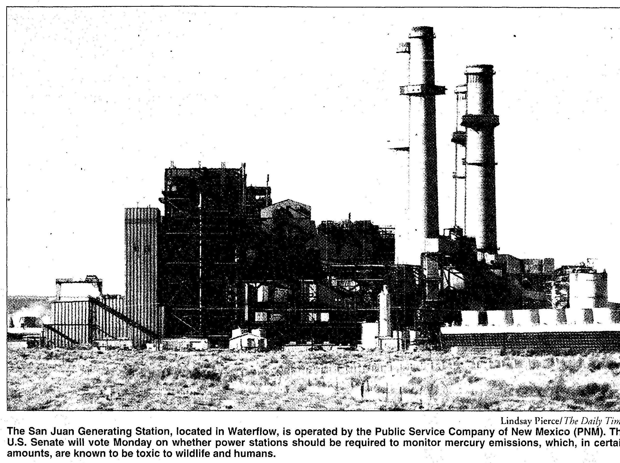 The San Juan Generating Station is pictured in 2005 in Waterflow as the U.S. Senate debated mercury emissions.