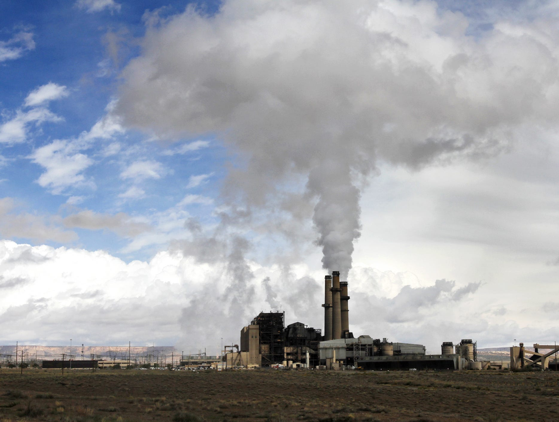 The San Juan Generating Station is pictured, Monday, Sept. 29, 2014,  in Waterflow.