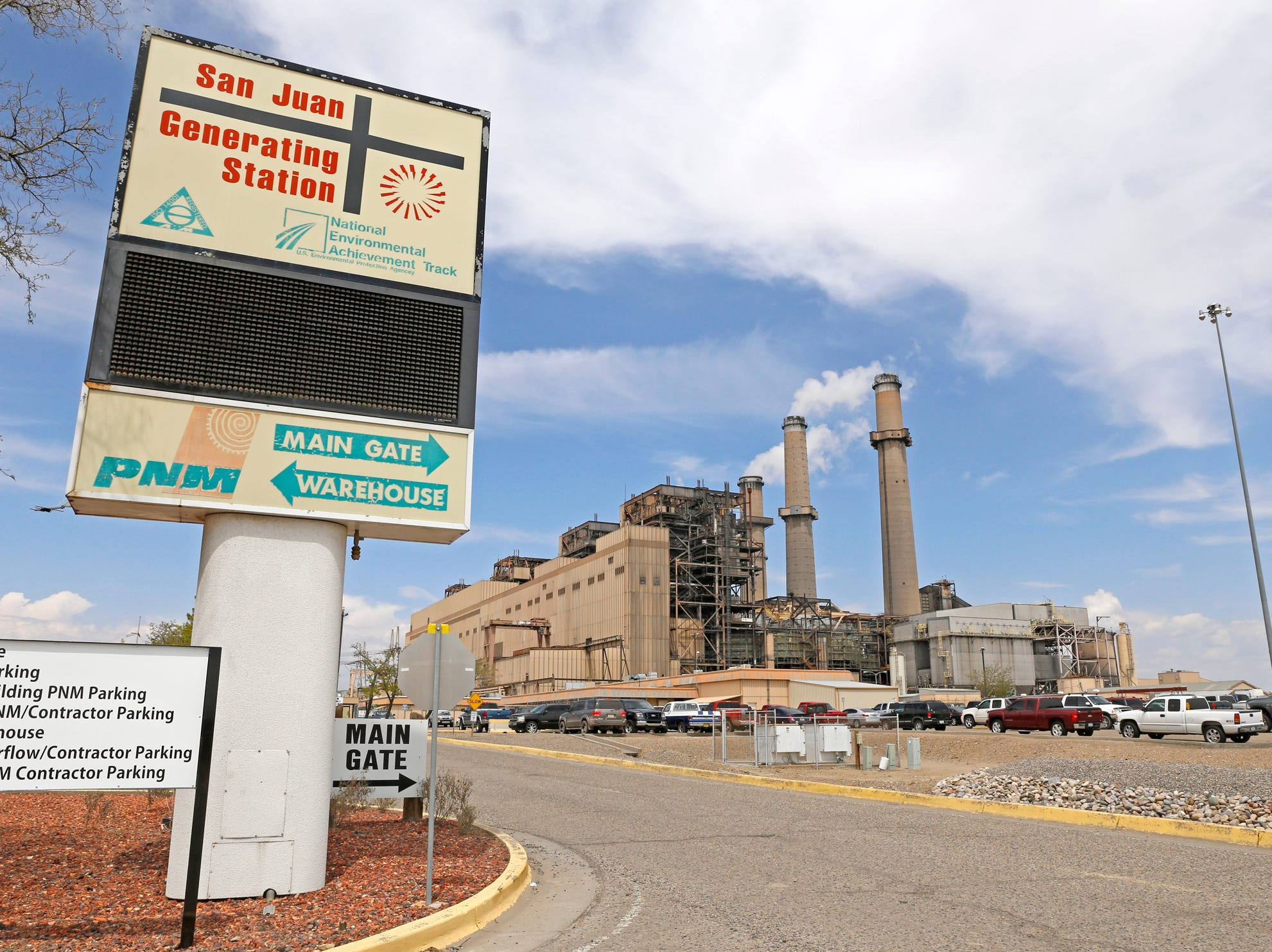 The San Juan Generating Station is seen, Monday, April 20, 2015, on County Road 6800 in Waterflow.