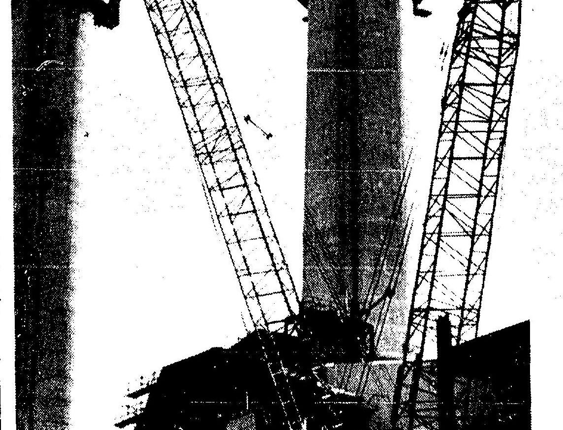 Stacks are rebuilt in 1978 after an explosion at the San Juan Generating Station.