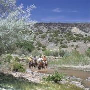 Horseback riding at Tamaya