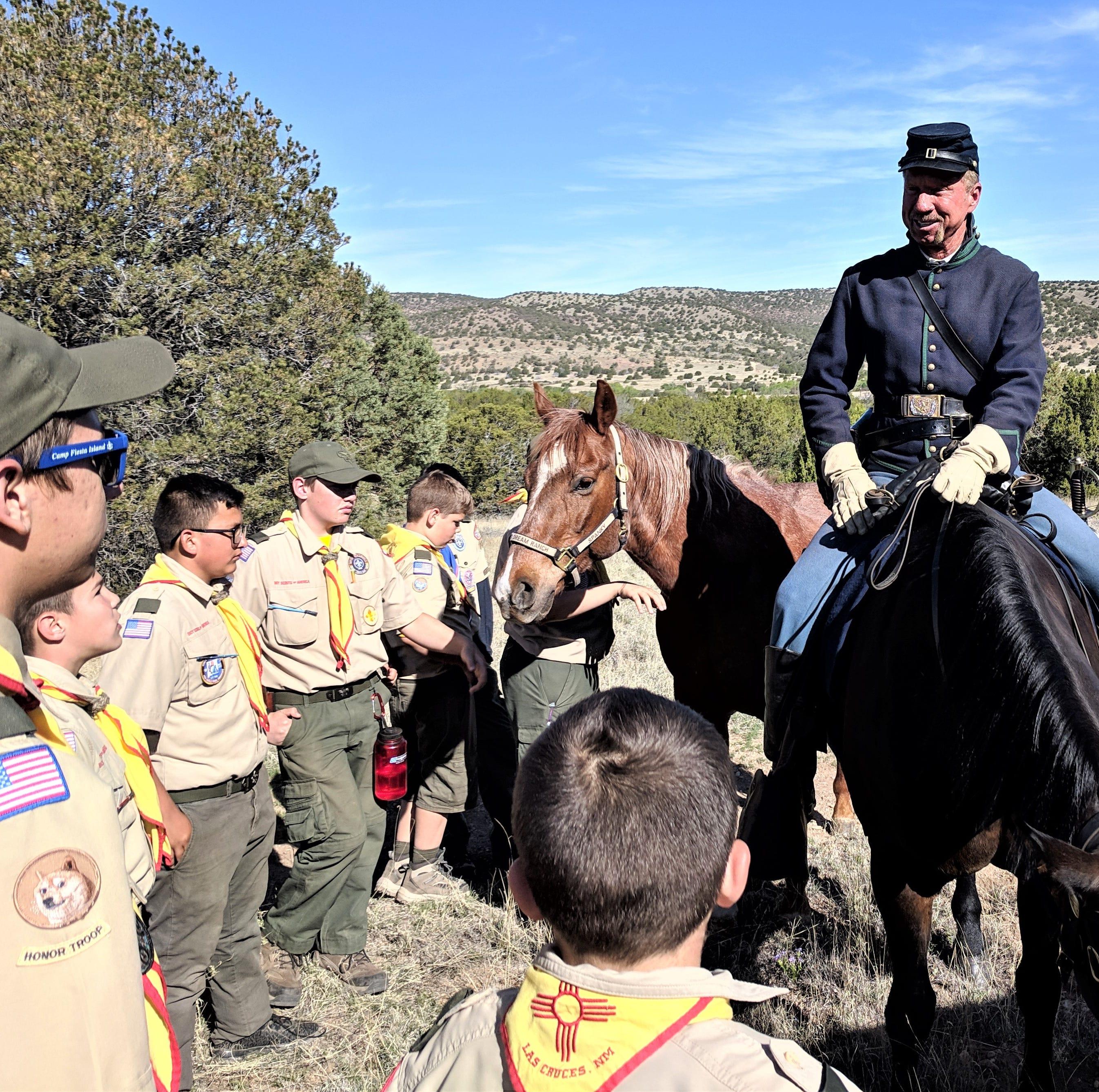 Las Cruces scouts visit Fort Stanton