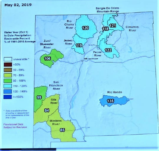 The Hondo Basin that includes the Rio Ruidoso sat at 135 percent of average for precipitation May 1.