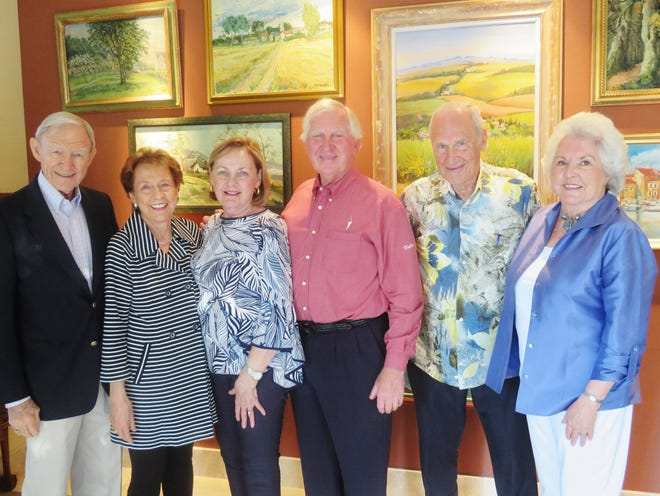 From left: Richard and Jan Oliphant, Elaine and Steve Schleisman, and Clay and Roberta Klein