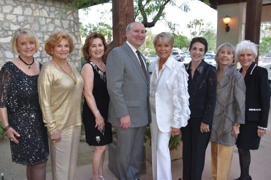 From left: Eileen Hall, Nancy Crandall, Sandy Hill, Mitch Gershenfeld, Nancy Stone, Travis Erwin, Linda Weakley and Mary Latta