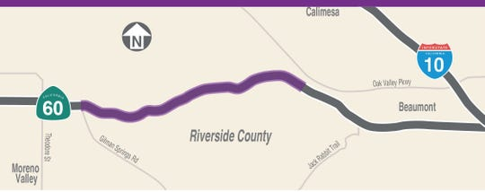 Truck lanes are coming to Highway 60's badlands. Here are details about the road work