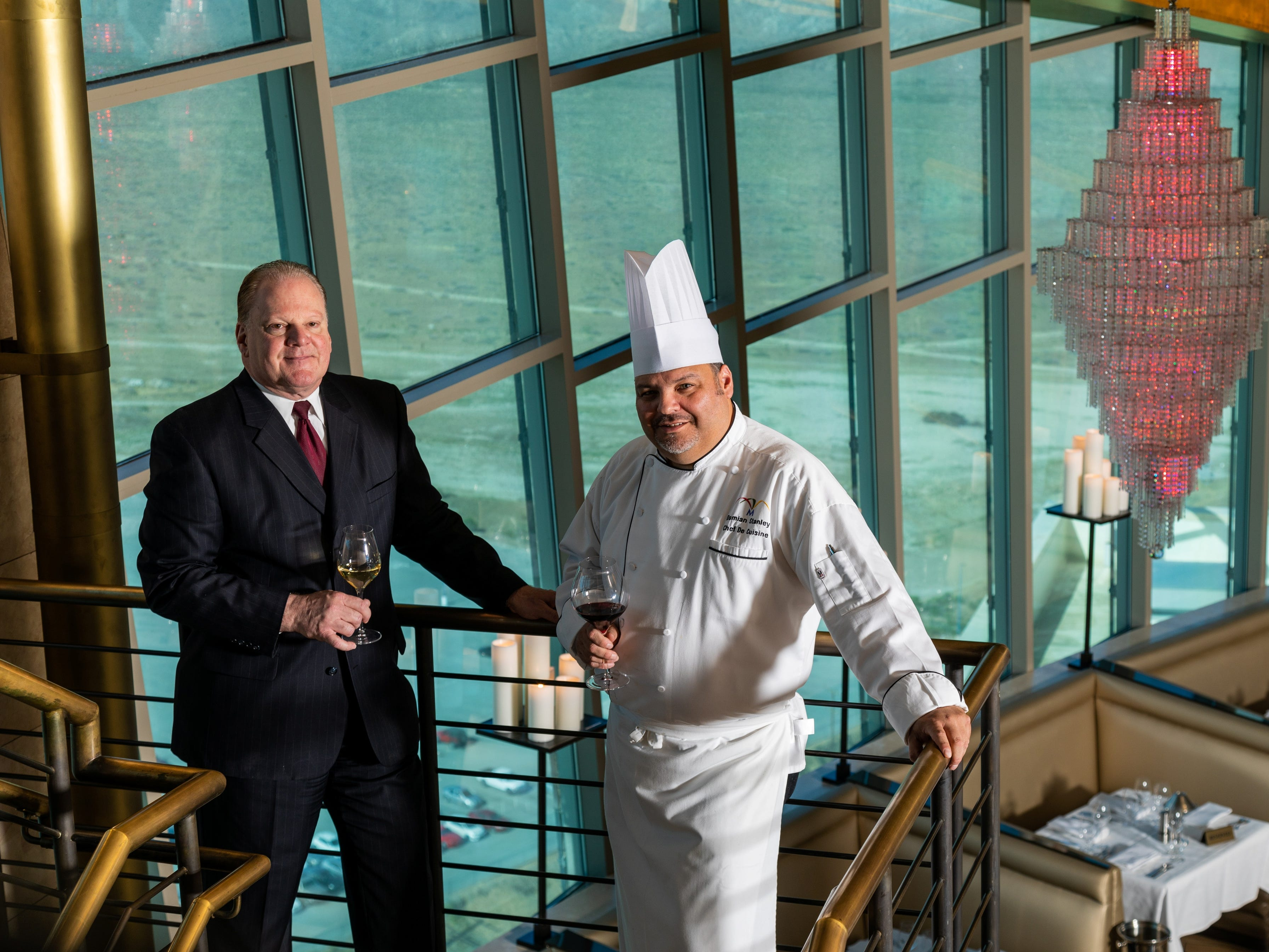 Cielo Manager Robert Volpe Chef De Cusine Damian Stanley at Morongo Casino Resort and Spa.