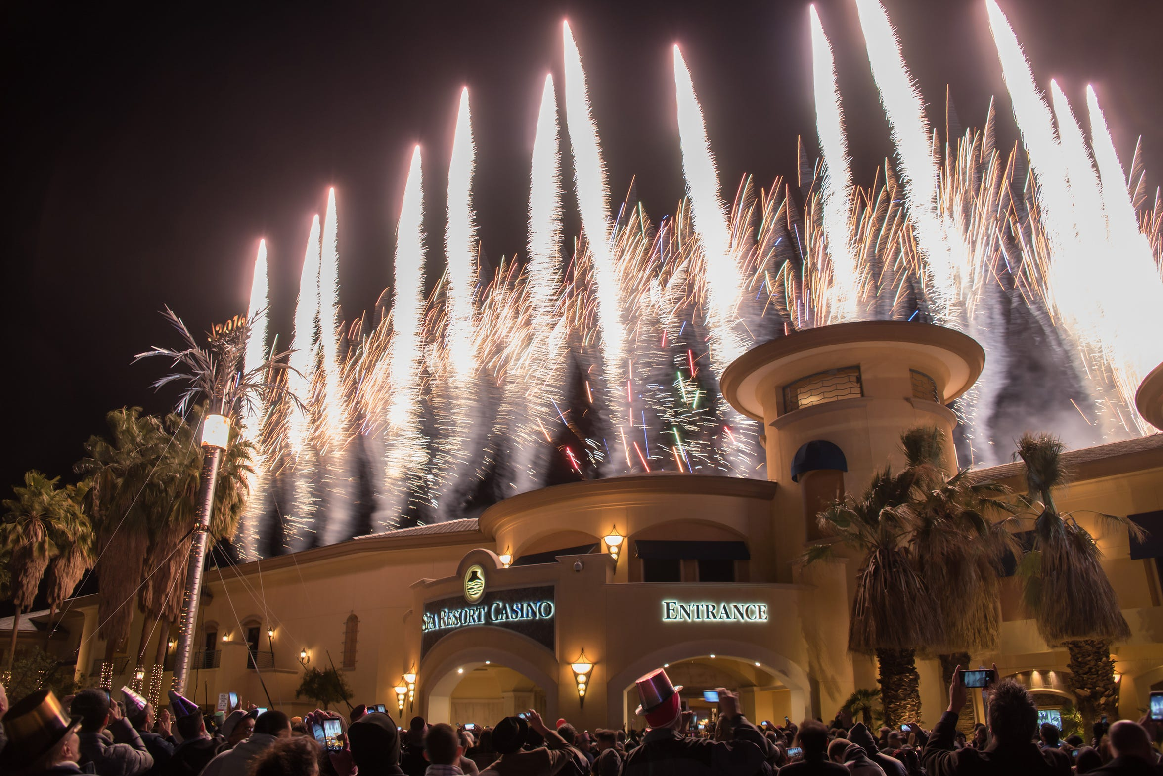 A New Year's Eve celebration at the Agua Caliente Casino Palm Springs in Palm Springs, Calif.