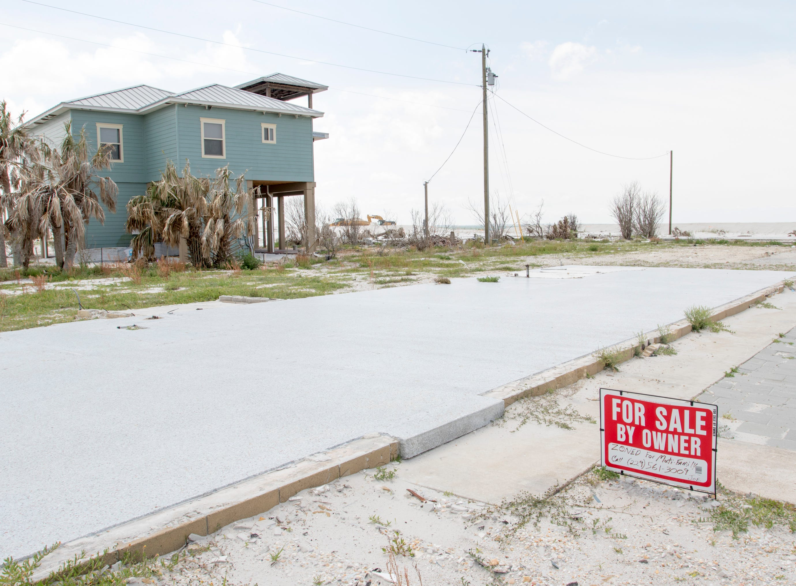 Nothing but foundations are left in many cases after Hurricane Michael in Mexico Beach, Florida on Wednesday, May 8, 2019.  Michael made landfall as a Category 5 hurricane between Mexico Beach and Tyndall Air Force Base on October 10, 2018.