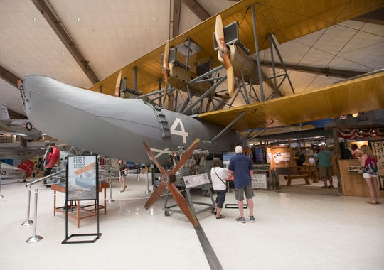 The National Naval Aviation Museum is celebrating the 100th anniversary of the Navy's first flight across the Atlantic Ocean in this NC-4 seaplane.
