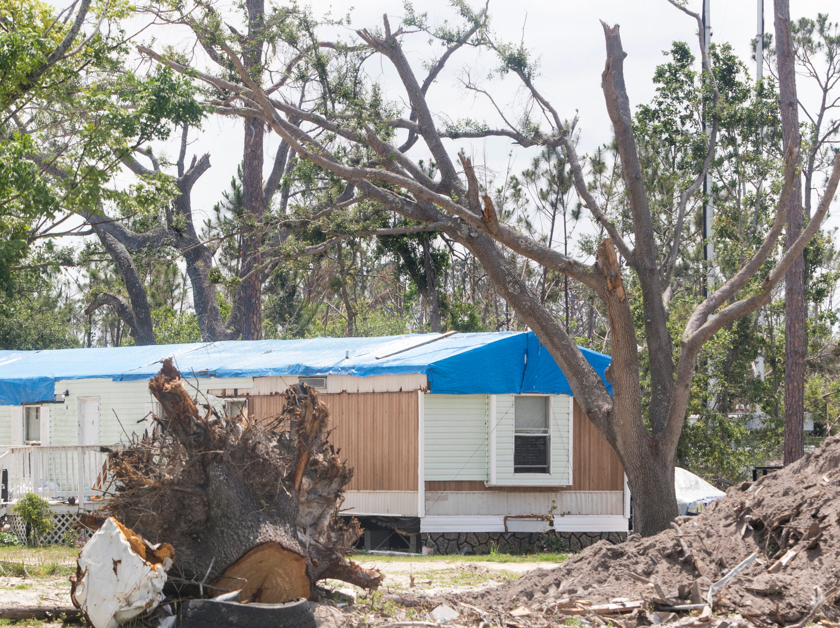 Widespread damage caused by Hurricane Michael is still all over the Panama City area of Florida on Wednesday, May 8, 2019.