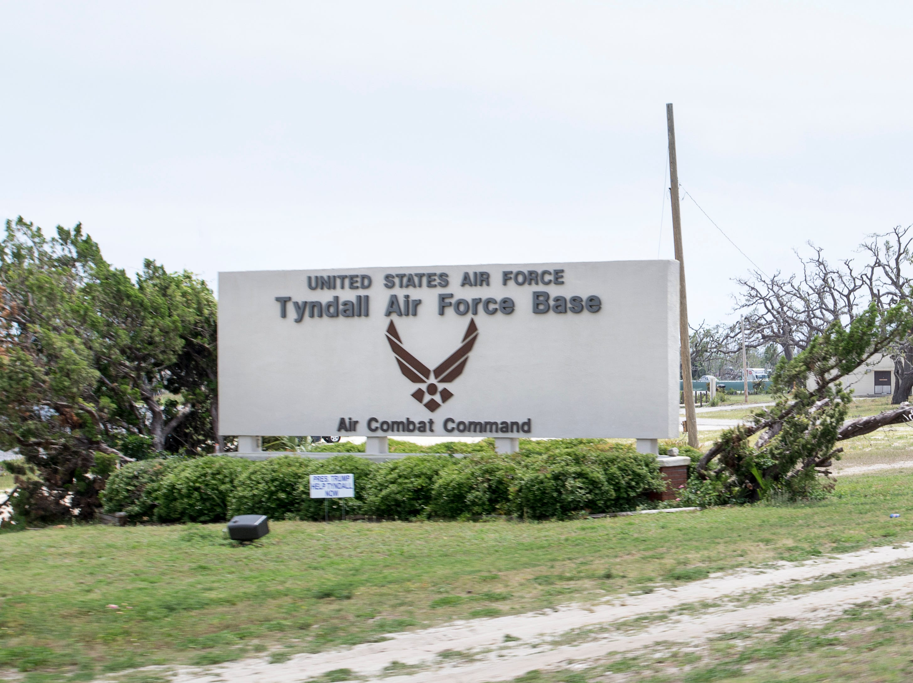 Tyndall Air Force Base  in the Panama City area of Florida on Wednesday, May 8, 2019.  Michael made landfall as a Category 5 hurricane between Mexico Beach and Tyndall Air Force Base on October 10, 2018.
