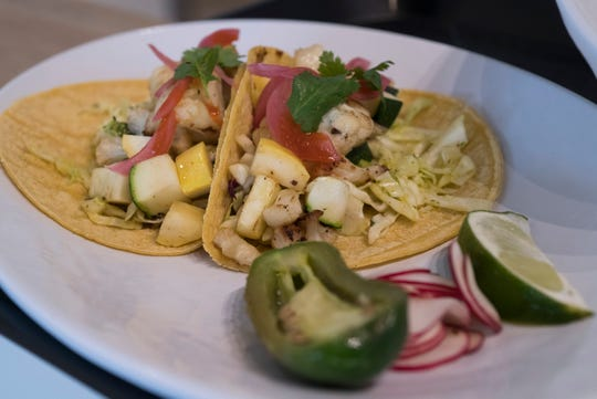 IQ Eatery, a new restaurant located on Barrancas Ave offers diners a variety of menu option such as the Veggie Tacos.
