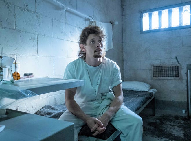 "Cameron (Jack O'Connell) has a history of domestic violence in ""Trial by Fire."""