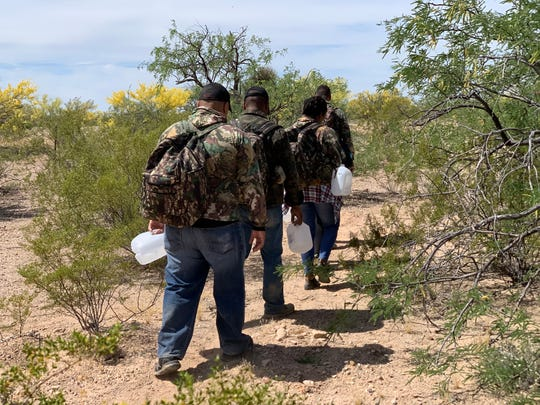 Border Patrol in Tucson leads a safety demonstration of a migrant rescue during the launch of its Border Safety Initiative on May 9, 2019.