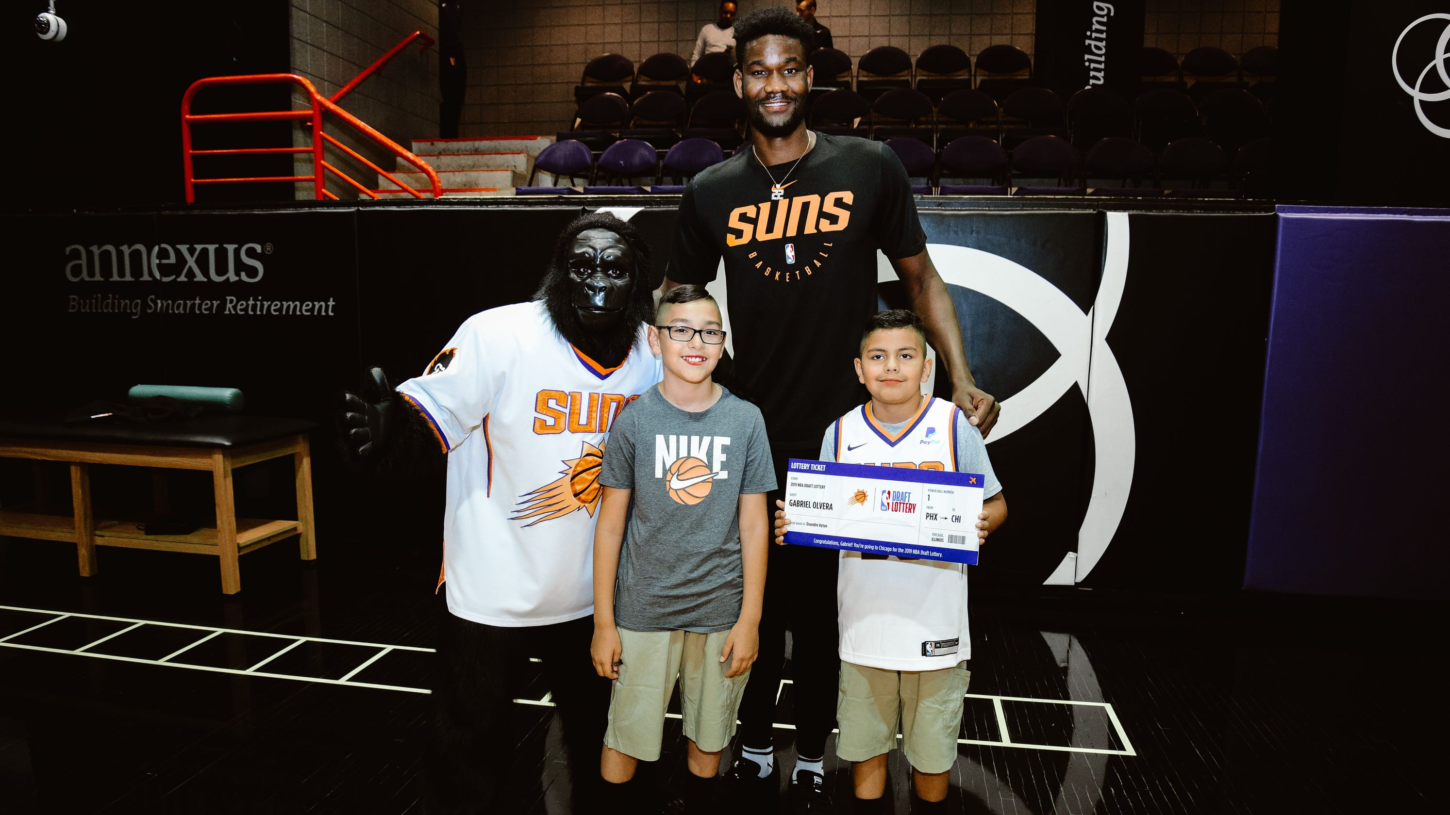 466c6eb1d073 Phoenix Suns  Deandre Ayton invites 8-year-old fan to NBA draft lottery