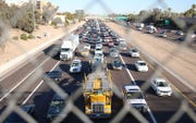 A portion of westbound interstate 10 in west Phoenix will be closed for paving Friday through Monday, Sept. 13-16, 2019, the Arizona Department of Transportation tweeted.