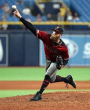 Archie Bradley pitched three scoreless innings with five strikeouts in Wednesday's extra-innings win over the Rays.