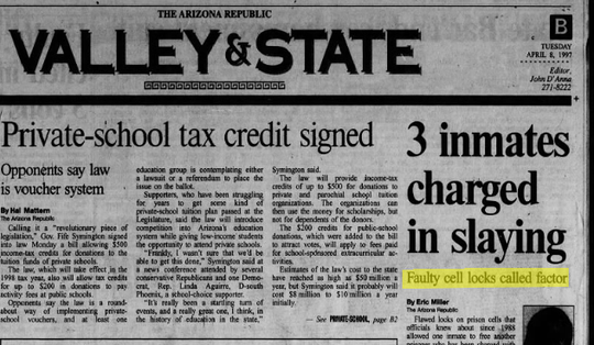 An Arizona Republic page from April 8, 1997.