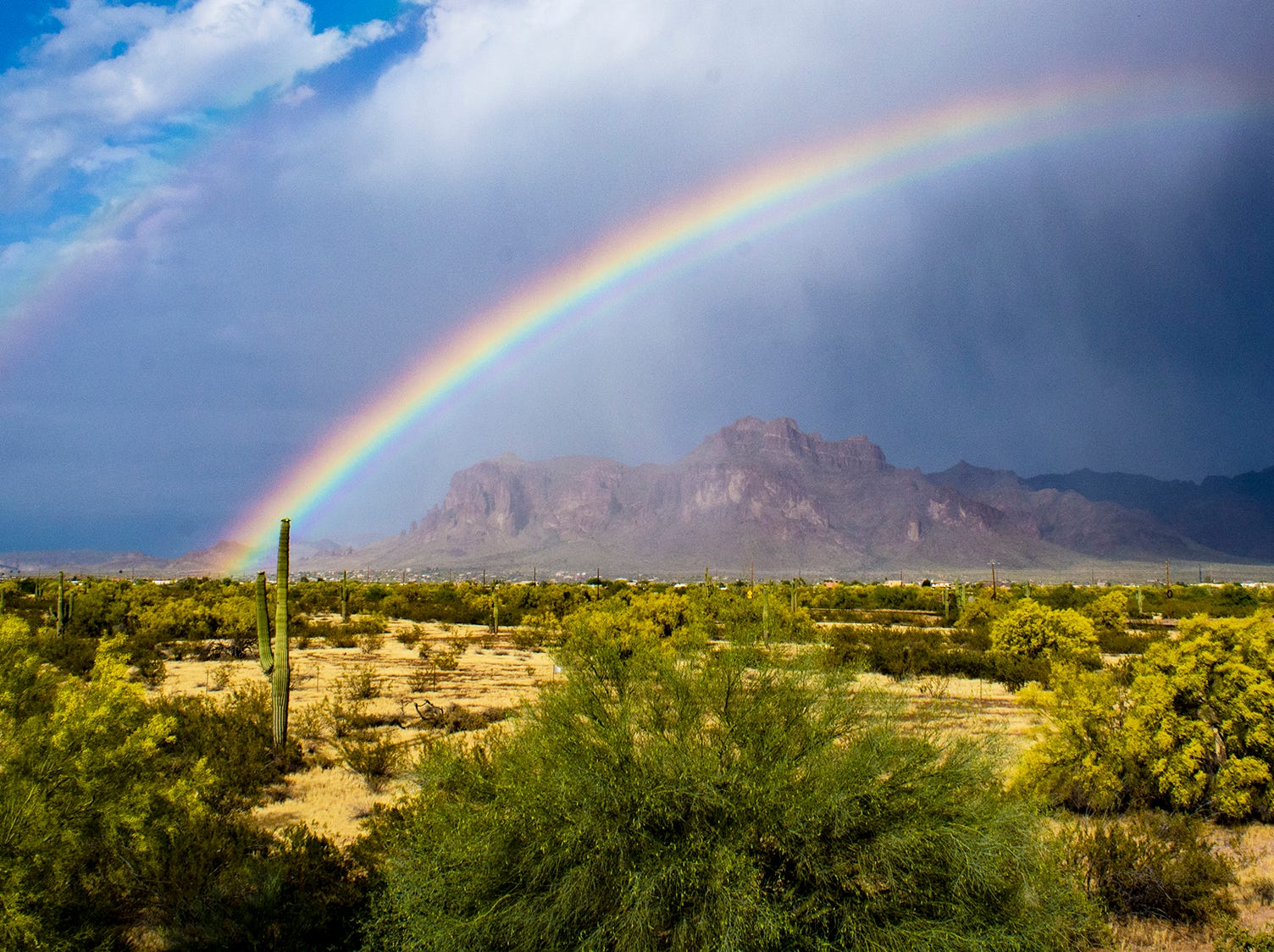 Double rainbow in Apache Junction.