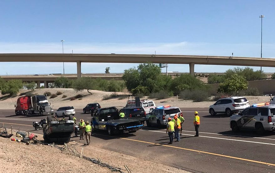 A 16-year-old driver was killed in a single-vehicle rollover crash on I-10 Thursday morning.