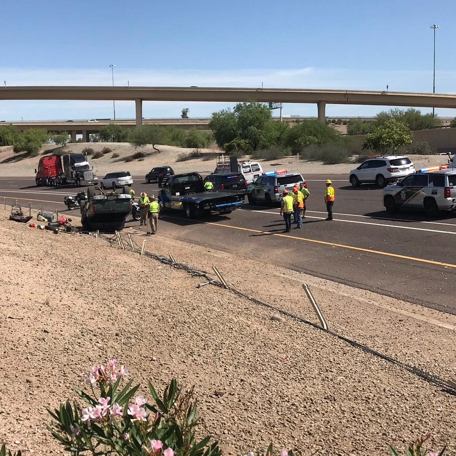 16-year-old driver killed in rollover crash that shut I-10 in Phoenix