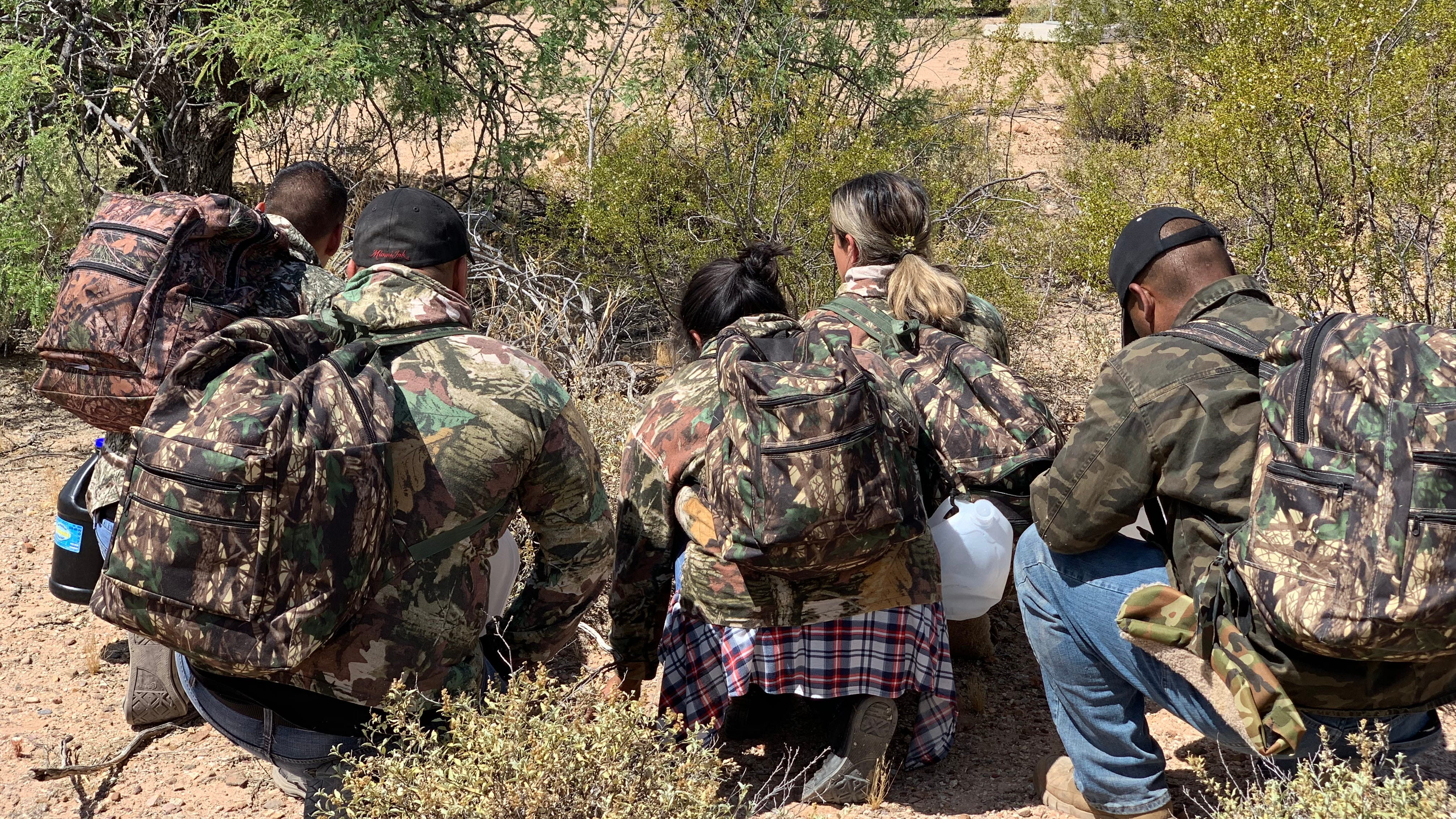 Border Patrol in Tucson leads a safety demonstration of a migrant rescue during the launch of its Border Safety Initiative on May 9, 2019. Agents seen an uptick in rescues during the summer.