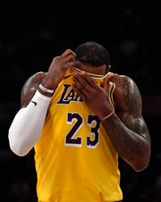 LeBron James did not make the playoffs in his first season with the Los Angeles Lakers.