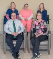 Recent Employees of the Month: Christina Welch, Peter Girimonte, Jill Phillips, Katelyn Schott and Kelli Mollan.