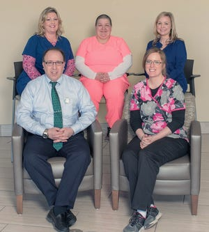 Recent Employees of the Month: Christina Welch, Peter Girimonte, Jill Phillips, Katelyn Schott and Kelli Mollan.