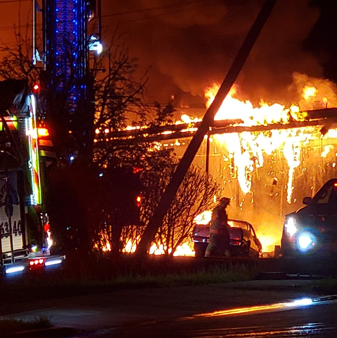 'A total loss': Fire destroys car dealership, HBO series film site in Ulster