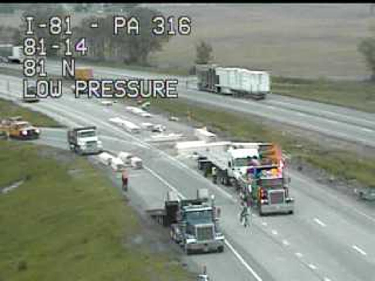I-81: All lanes closed after tractor trailer loses load of