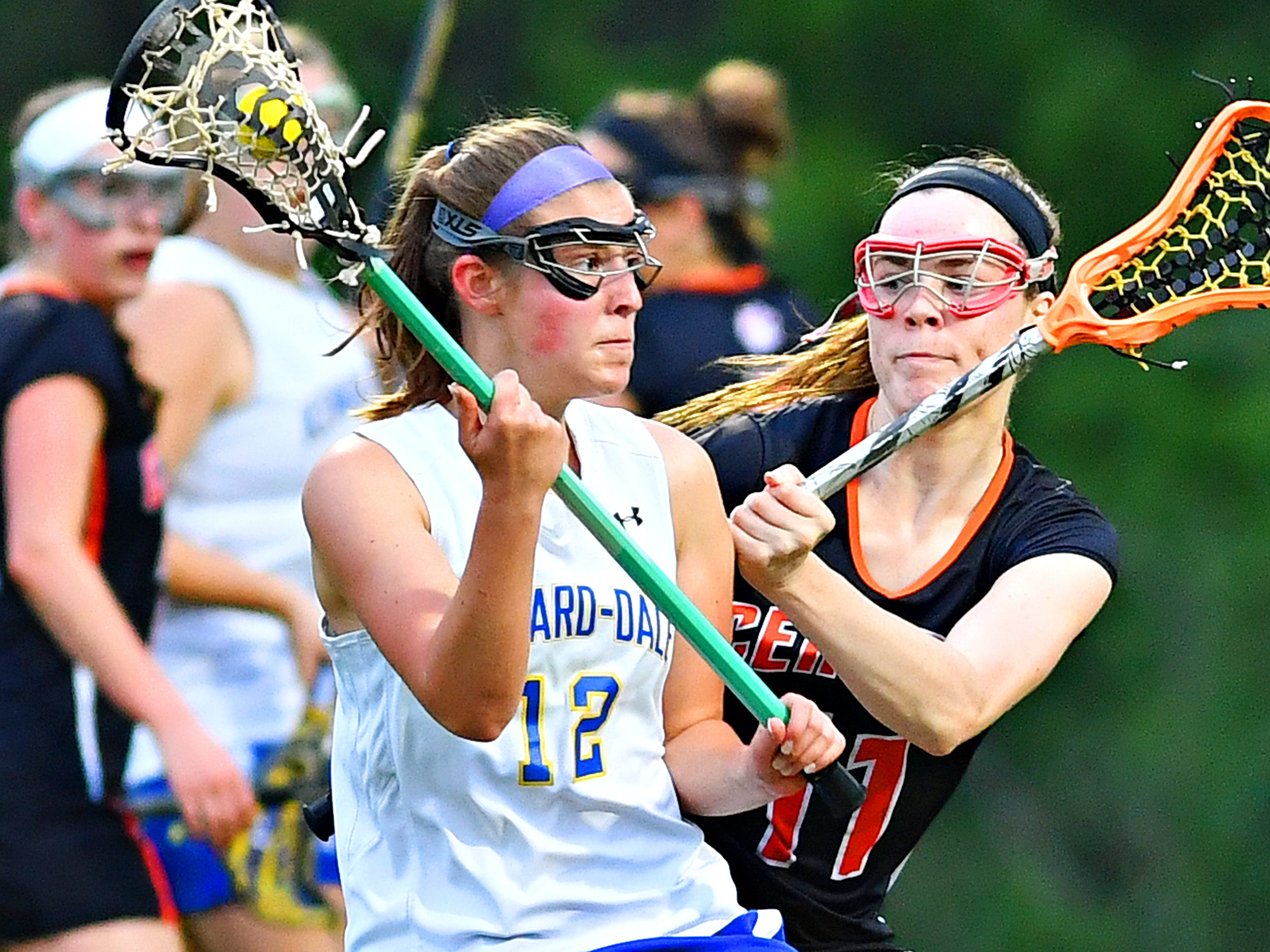 Kennard-Dale vs Central York during girls' lacrosse semifinal action at South Western High School in Hanover, Wednesday, May 8, 2019. Kennard-Dale would win the game 19-10. Dawn J. Sagert photo