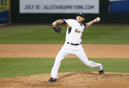 Ross Detwiler, seen her pitching for the York Revolution, is headed back to affiliated baseball.