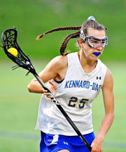 Kennard-Dale's Meghan Silva during girls' lacrosse semifinal action against Central York at South Western High School in Hanover, Wednesday, May 8, 2019. Kennard-Dale would win the game 19-10. Dawn J. Sagert photo