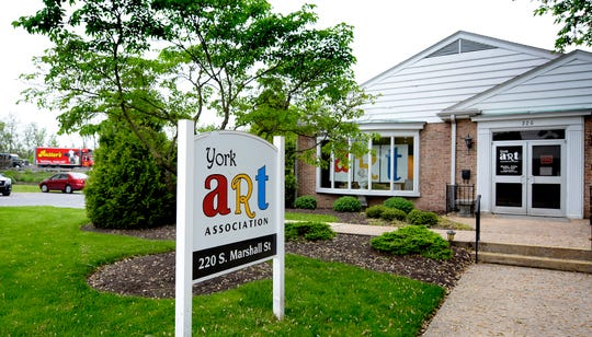 Properties along South Manheim Street near I-83, Thursday, May 9, 2019, including York Art Association, may be subject to eminent domain confiscation with a interstate widening project planned. Bill Kalina photo