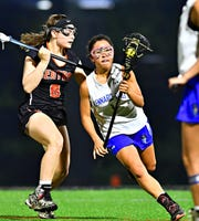 Jenna Soukaseum, right, seen here in a file photo, had five goals on Tuesday for Kennard-Dale.
