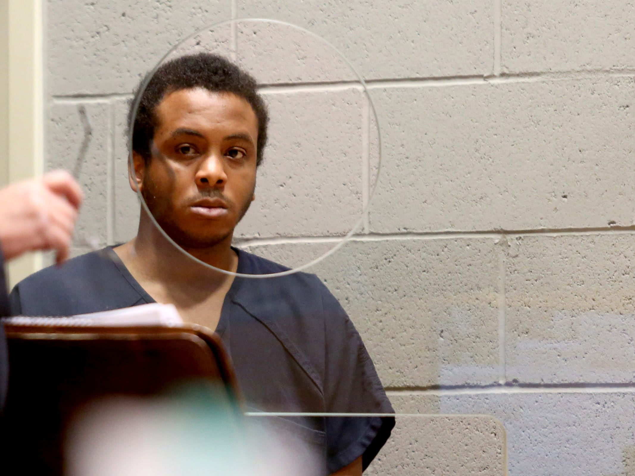 Curtis Welch appears for his arraignment on two aggravated murder charges and one attempted aggravated murder charge at the Marion County Court Annex in Salem on May 9, 2019. He and another man charged in the shooting are both being held without bail.