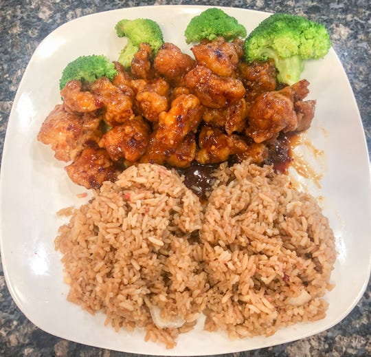 The General Tso Chicken is one of many dishes available at Dragonlicious, 2503 Sherwood Way.