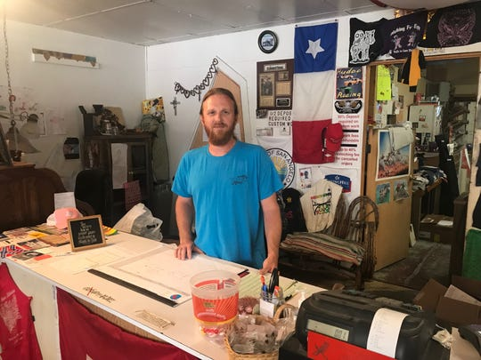 Jason Moore at Cortese Flag and Silkscreen in San Angelo said good customer relations has been the key to the shop's success through the years.