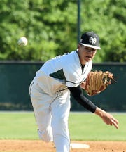 Parkside High School pitcher Anthony Sarbanes throws a pitch against Wi-Hi in the first round of the state tournament on Thursday, May 9, 2019.