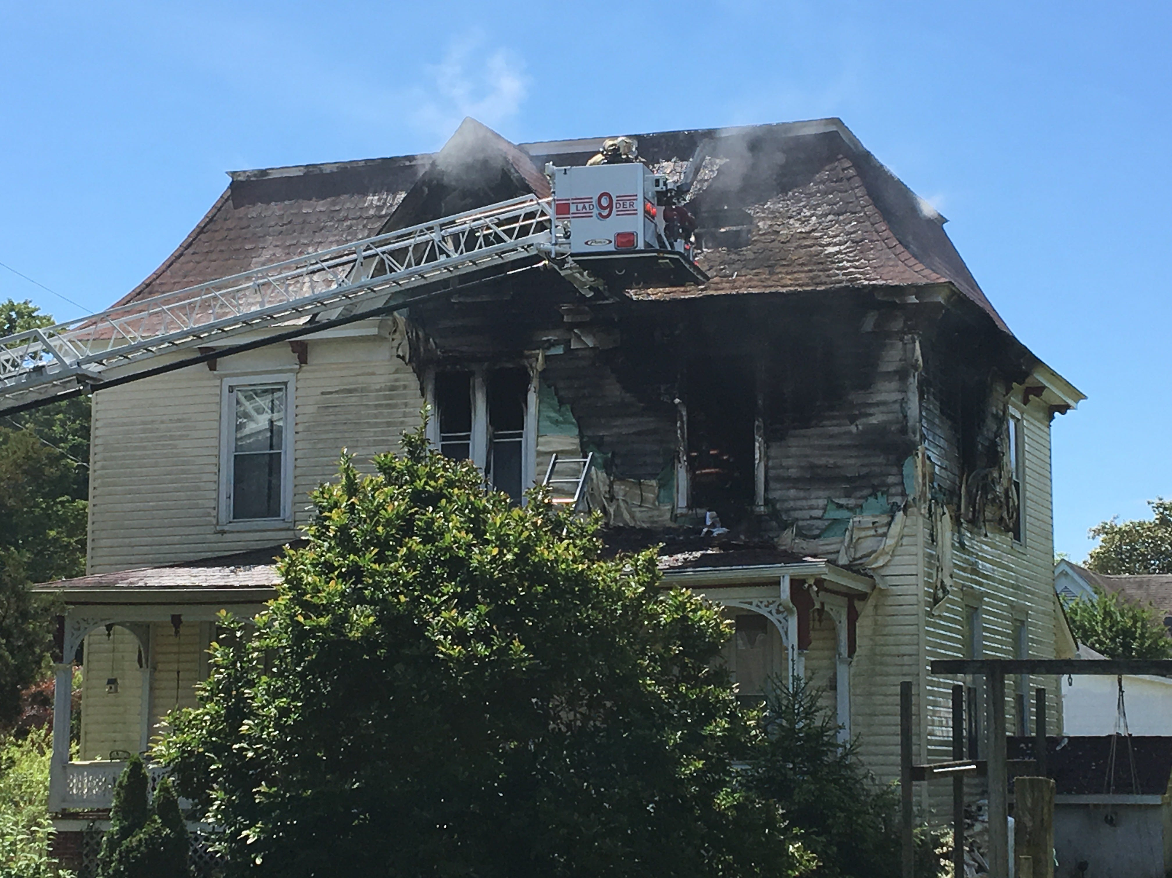 A fire at 2 Holly Street in Onancock, Virginia  on Thursday, May 9, 2019 caused heavy damages.