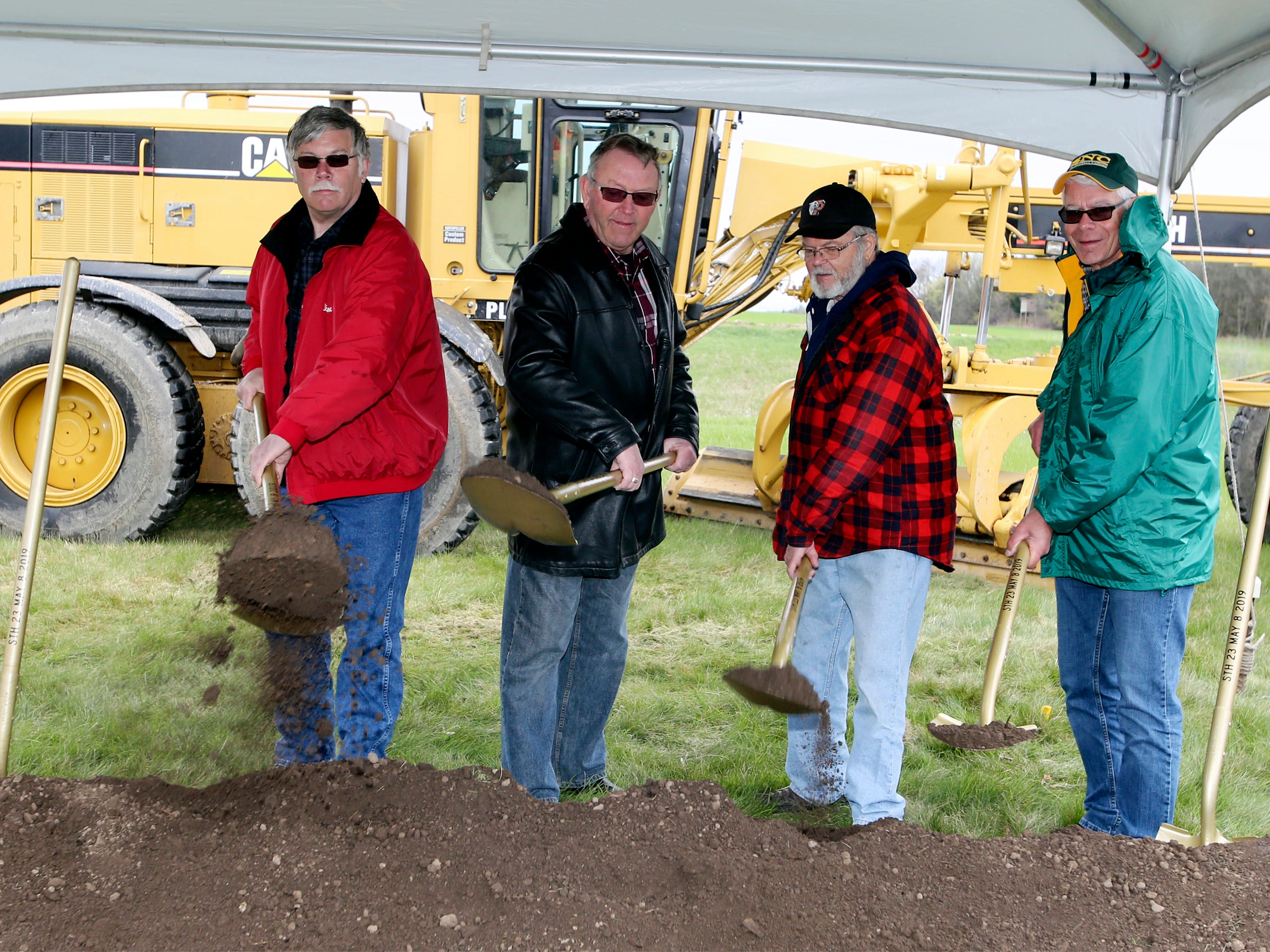 Scenes from the state Highway 23 four-lane expansion groundbreaking, Wednesday, May 8, 2019, at the Wade House in Greenbush, Wis.  Officials said that the construction would start May 13, 2019.
