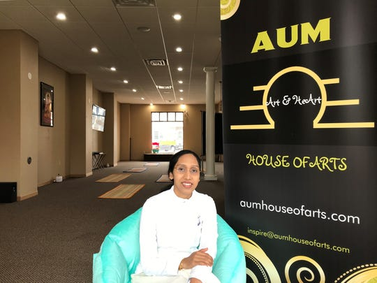 Owner and instructor Lavanyaa Surendar says she wants to create a space for people to have a healthy relationship with their body with the yoga and exercise and then also create a space for people to see the value of art on the mind and body.