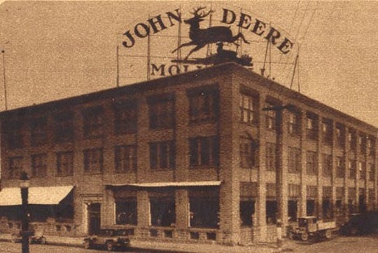 The John Deere building is shown at Fifth and Main in Sioux Falls in the mid-1920s.